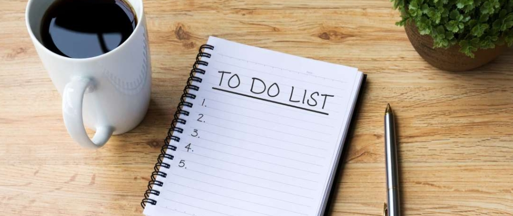 to do lists and productivity