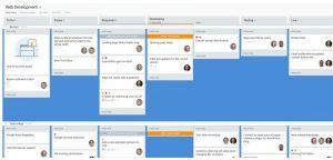 Web development Kanban board